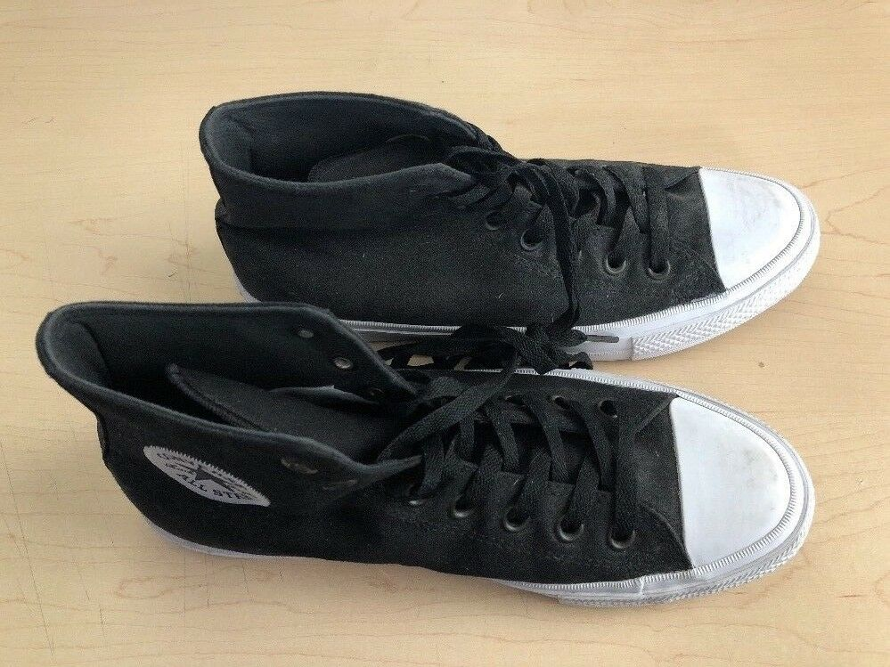 Converse Chuck Taylor All Star Hi Top Black White Men's Size 11-Sneakers M9160