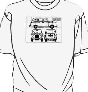 London black cab fx4 taxi blueprint style t shirt ebay image is loading london black cab fx4 taxi blueprint style t malvernweather Choice Image