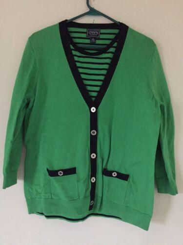 Verde marino piezas 2 Chaps suéter azul Xl talla lima algodón 100 dqwFtT