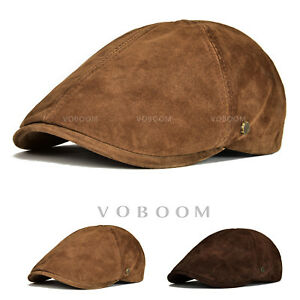 3071d39fa24 Image is loading Distressed-Leather-Ivy-Cap-Mens-Brown-Gatsby-Newsboy-