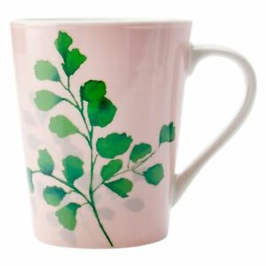 NEW-Christopher-Vine-Green-House-Ferns-On-Pink-Mug-420ml
