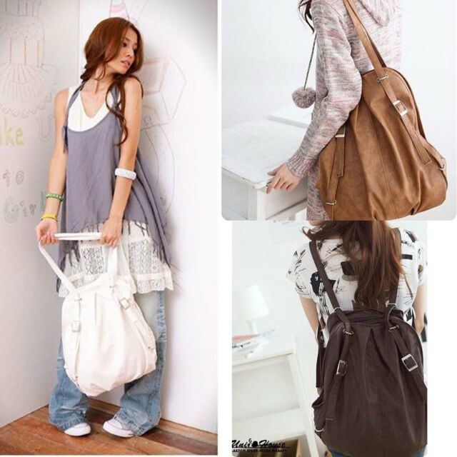 Fashion Backpack Korean Style Women Girls Schoolbag Handbag Shoulders Bag Tote