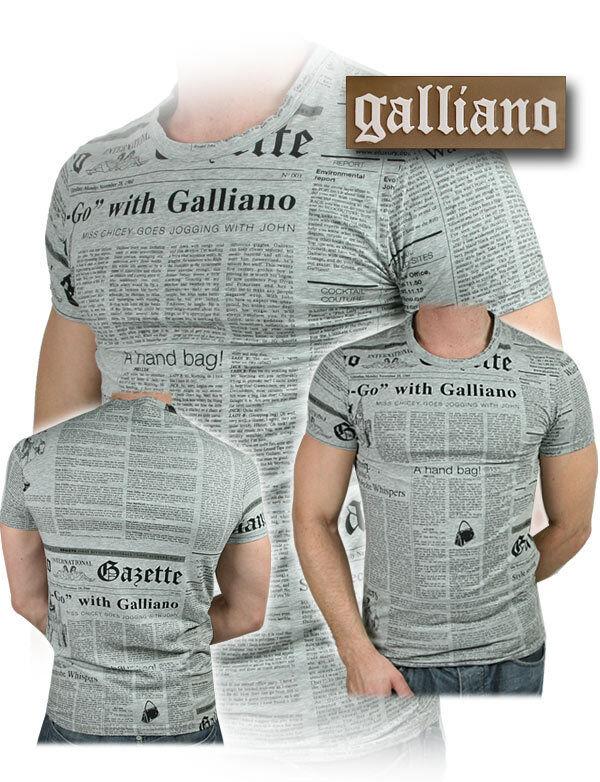T-shirt John Galliano 100% Originale maglietta Men men Man New Collection