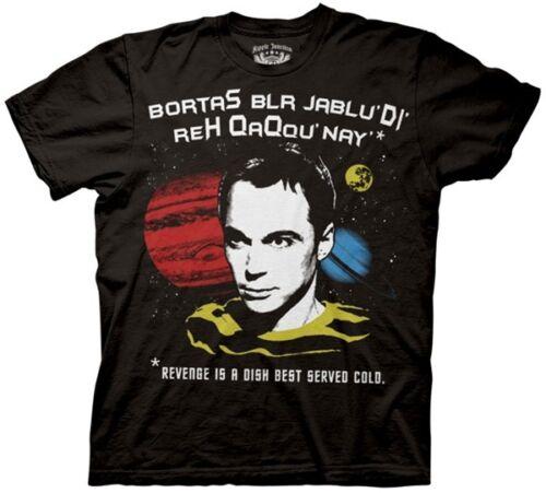 The Big Bang Theory TV Series Klingon Revenge Quote T-Shirt, Size XXL NEW UNWORN