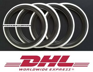 16 White Wall Portawall Tire insert Trim set For Car 4x CRYSLER PT CRUISER.