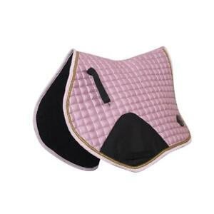 Crystal-Ace-Equestrian-Horse-Quilted-Saddle-Pad-Numnahs-Liliac-Saddlecloth-Satin