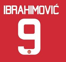 Ibrahimovic 9 Manchester United 2017 Europa Final Home Football Nameset 4 shirt