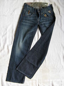 Extra Low Jeans W25 Leg l30 Fit Replay Waist Baggy Damen Wide Blue Denim EwxA8B0q