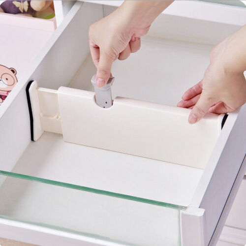 2 x Drawer Dividers Partition Spring Loaded Expandable Kitchen Bedroom Organiser