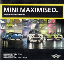 MINI ACCESSORI & John Cooper Works TUNING 2009-10 UK vendite sul mercato opuscolo