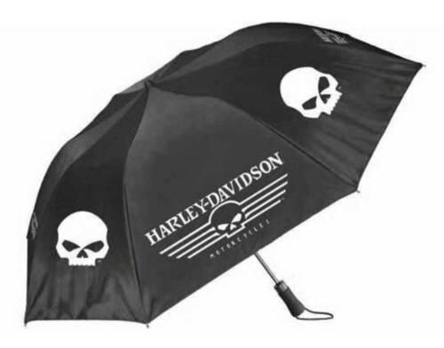 Harley-Davidson Linear Skull 44in Black /& White UMB119988 Retractable Umbrella
