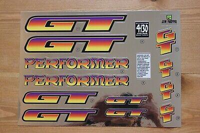 For Black Frame Reproduction 1994 GT Performer BMX Decal Set