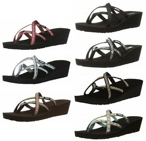 Teva-Women-039-s-Mush-Mandalyn-Wedge-Ola-2-Flip-Flops