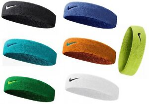 Image is loading Nike-Swoosh-Headband-Black-Blue-Orange-Green-White- 4a91d07d13f