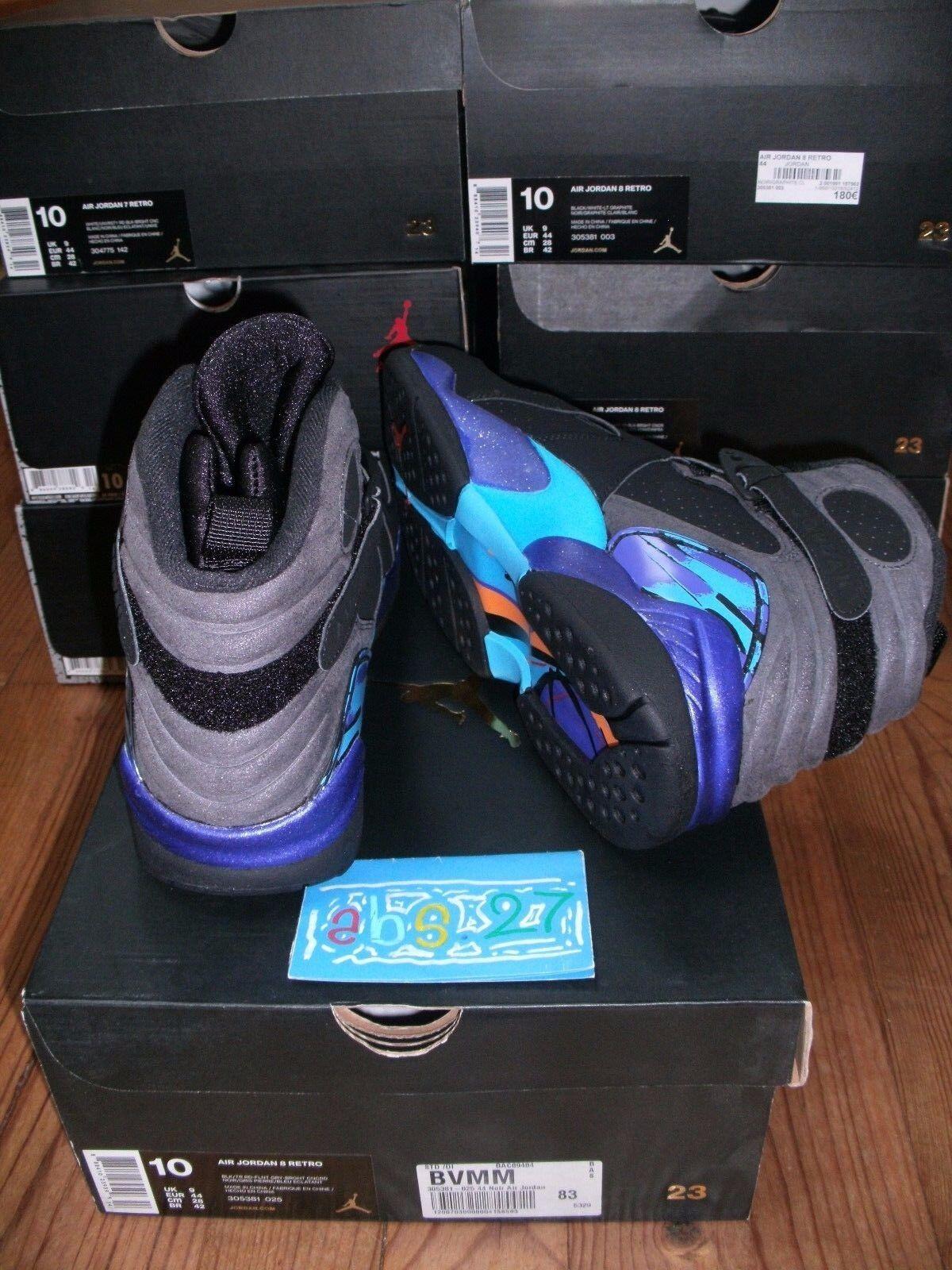 NIKE 8 air Jordan VIII Aqua 8 NIKE Rare limited Color Og DS 44 10 9 Uk 2015 5e6fb0