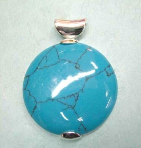 pendentif turquoise,argent en forme de tour Argent Chaîne Gratuit charmant