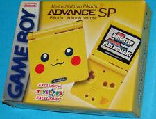 Console Nintendo Game Boy Advance SP Limited Pikachu Edition GBA