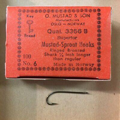 100 pack Mustad 3366 Sproat Hook