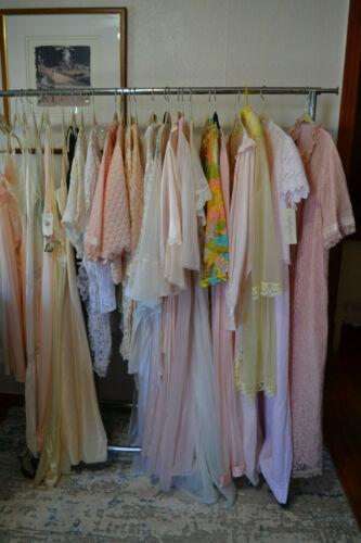 Lot of Vintage Lingerie Sets Robes Nightgowns Bed