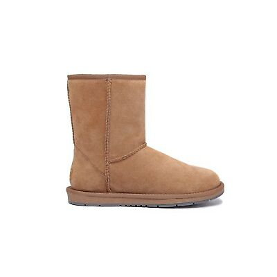 Women Men's 3/4 Ugg Boots Genuine Sheepskin Suede Leather Short Classic Non-Slip