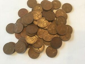 20 x 1966 Australian 2 Cent Coins- FIRST YEAR OF DECIMAL COINS- Circulated