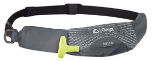 Onyx-M-16-Manual-Inflatable-Belt-Pack-Life-Jacket-Paddle-Board-Canoe-Grey-PFD