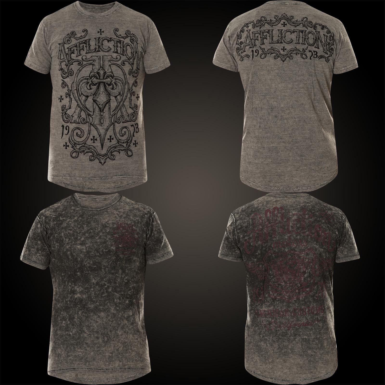 AFFLICTION T-Shirt Physics Rev. Grau T-Shirts