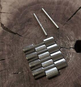 Steel-NSA-watch-bracelet-3-row-New-Old-Stock-4-links-amp-2-pins-Novavit-Swiss-band