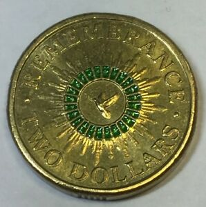 green remembrance 2 dollar coin