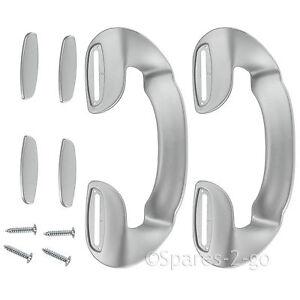 2 X Argent Gris Poignée De Porte Pour Réfrigérateur Réfrigérateur Congélateur Bush 190mm-afficher Le Titre D'origine Les Clients D'Abord