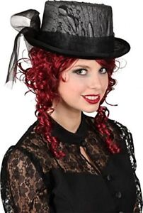 6147bcf811470 Image is loading Ladies-Black-Veiled-Victorian-Steampunk-Inventor -Fancy-Dress-