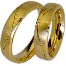 2 Eheringe Verlobungsringe Partnerringe Trauringe Hochzeitsringe 5mm & Gravur