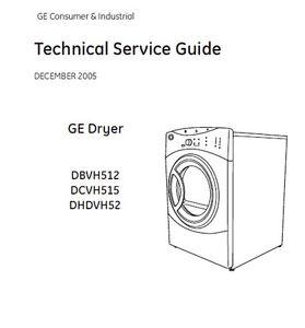 Ge Dryer Service Amp Repair Manual Ebay