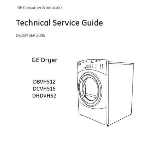 GE Dryer Service /& Repair Manual