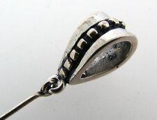 3 each LG Sterling Silver Pendant Bail w/ Eye pin /E3