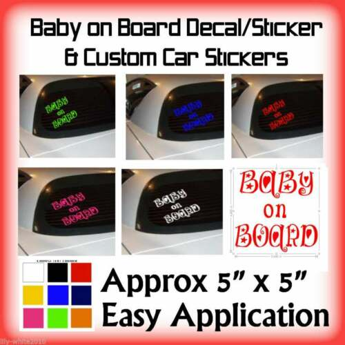 Baby/Child On Board Baby, Window Decal Car Bumper Sign Body Work  Decal Sticker