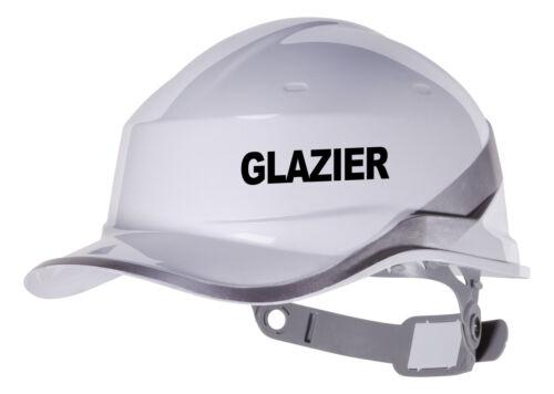 2X GLAZIER Hard Hat vinyl decal Warehouse sticker transfer CUSTOM COLOUR /& FONT