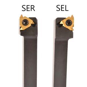 SEL1212H16 SER1212H16 Threading Turning Tool Holder 20pcs 16ER AG60//16IR AG60