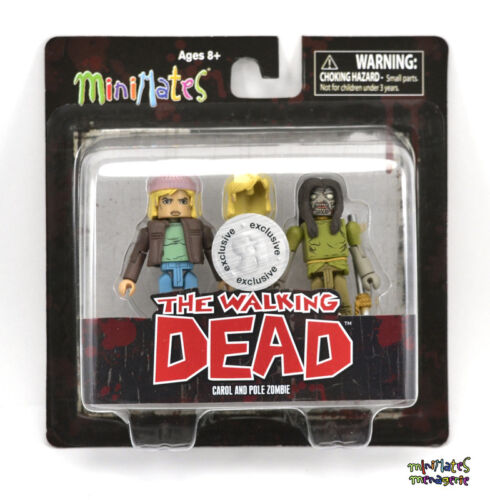 Walking Dead Minimates TRU Toys R Us Wave 3 Carol /& Pole Zombie