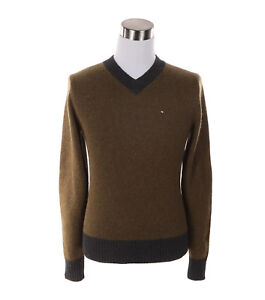 Tommy-Hilfiger-Men-039-s-Classic-V-Neck-Long-Sleeve-Wool-Sweater-Free-0-Shipping