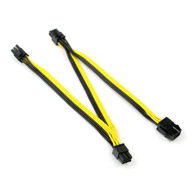 PCI-E 6Pin Female to 3 6P Male PCI Express Extension Cable Power Supply 20cm