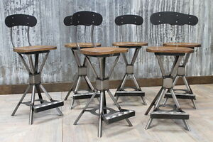 Image Is Loading Style Machinist Stool Uk Manufactured With