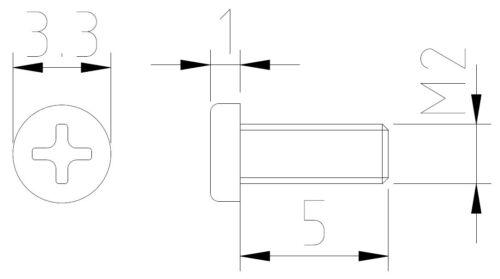 KS20500 Dingler Schrauben Kreuzschlitz Stahl M2x5mm 100 Stück