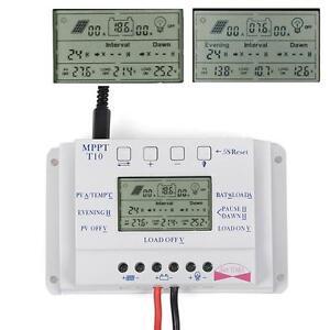 LCD-10A-Laderegler-Solarregler-Solarmodul-12V-24V-Auto-MPPT-Light-amp-Timer-USB-PW