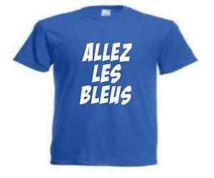 T-SHIRT ALLEZ LES BLEUS supporter équipe de france euro 2016 S a XXL ... 9ee9feb69d7b