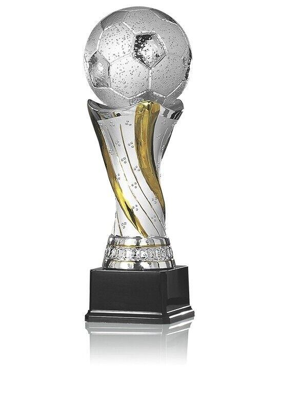 Fußball Pokal Trophäe aus Keramik Größe ca. 43 cm       | Tadellos  2631ea