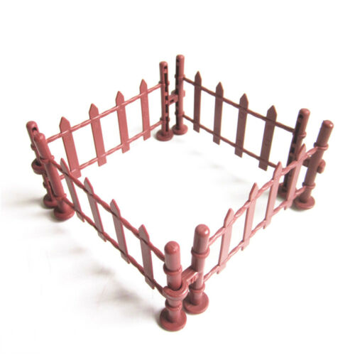 7X Military Fence Rail Board Toy Soldier Accessories Railway building kit EC