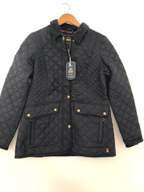 Joules Navy Newdale Marnavy Jacket Coat Quilted Size 10 Was £89