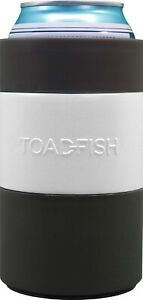 Toadfish-Can-Cooler-Non-Tipping-Suction-Cup-Stainless-Steel-White