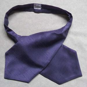 Confiant Garçons Cravate Mariage Ascot Cravate Formelle Parti Taille Unique Lavande Violet-afficher Le Titre D'origine